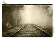 Traveling On The Tracks Antique Carry-all Pouch