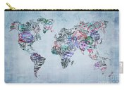 Traveler World Map Carry-all Pouch