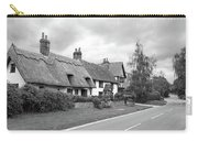 Travellers Delight - English Country Road Black And White Carry-all Pouch