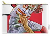 Travis Kelce Kansas City Chiefs Oil Art Carry-all Pouch