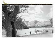 Tree And People By The Lake Carry-all Pouch