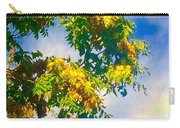 Tree Branch With Leaves In Blue Sky Carry-all Pouch