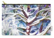 Tree Branches Covered By Snow In Winter Carry-all Pouch