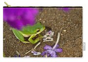 Tree Frog Under Flower Carry-all Pouch