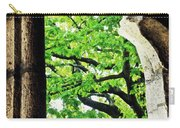 Tree In A Medieval Frame Carry-all Pouch