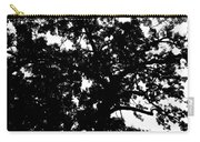 Tree In Black And White Carry-all Pouch