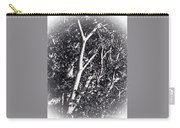 Tree In Summer In Black And White Carry-all Pouch