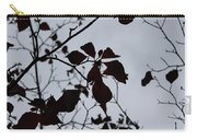 Tree, Leaves, Black, White Carry-all Pouch