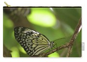 Tree Nymph Butterfly Sitting On A Tree Branch Carry-all Pouch
