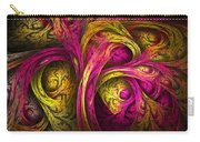Tree Of Life In Pink And Yellow Carry-all Pouch