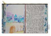 tree of life ketubah -Conservative version Carry-all Pouch