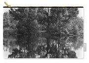 Tree Reflection In Black And White Carry-all Pouch