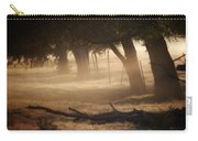 Tree Row In Morning Fog Carry-all Pouch