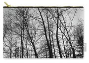 Tree Silhouette Bw Carry-all Pouch
