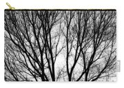 Tree Silhouettes In Black And White Carry-all Pouch