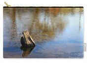 Tree Stump Surrounded By Water Carry-all Pouch