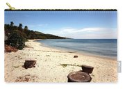 Tree Stumps On White Beach Carry-all Pouch