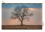 Tree - Sunset - Quotation Carry-all Pouch