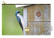Tree Swallow At Nesting Box Carry-all Pouch