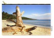 Tree Trunk On Beach Carry-all Pouch