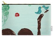 Tree With Blue Birds Carry-all Pouch