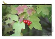 Tree With Red Berry Carry-all Pouch