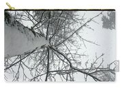 Tree Wrapped In Snow Carry-all Pouch