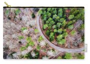Trees And Path From Above Drone Photography Carry-all Pouch