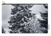 Trees And Snow Carry-all Pouch