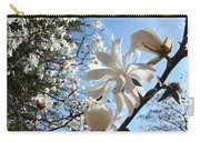 Trees Art Prints White Magnolia Flowers Baslee Troutman Carry-all Pouch