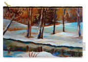 Trees At The Rivers Edge Carry-all Pouch