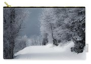 Trees Hills And Snow Carry-all Pouch