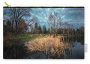 Trees In A Fog On A Background Of The River In Summer Morning  Carry-all Pouch