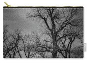 Trees In Storm In Black And White Carry-all Pouch