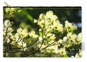 Trees Landscape Art Sunlit White Dogwood Flowers Baslee Troutman Carry-all Pouch