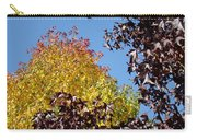 Trees Landscape Blue Sky Art Prints Fall Leaves Carry-all Pouch