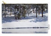 Trees Reflecting In Duck Pond In Colorado Snow Carry-all Pouch