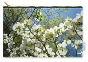 Trees Sunlit White Dogwood Art Print Botanical Baslee Troutman Carry-all Pouch