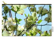 Trees White Dogwood Flowers 9 Blue Sky Landscape Art Prints Carry-all Pouch