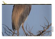 Tri Color Heron Carry-all Pouch
