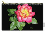 Tri-color Pink Rose2 Cutout Carry-all Pouch