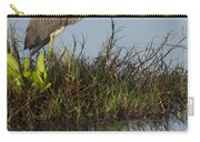 Tri-colored Heron And Reflection Carry-all Pouch