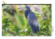 Tri-colored Heron On A Branch  Carry-all Pouch