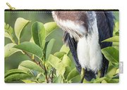 Tri-colored Heron On Guard  Carry-all Pouch