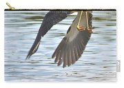 Tri Colored Heron Over The Pond Carry-all Pouch