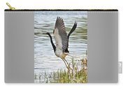 Tri Colored Heron Takeoff Carry-all Pouch