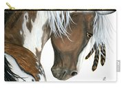 Tri Colored Pinto Horse Carry-all Pouch