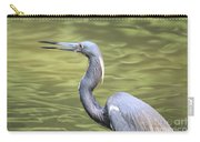 Tri Heron On Silk Carry-all Pouch