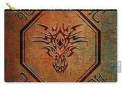 Tribal Dragon Head In Octagon With Dragon Chinese Characters Carry-all Pouch