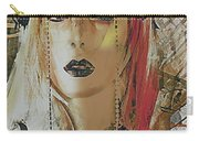 Tribal Rust Portrait Carry-all Pouch